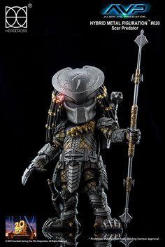 Alien vs Predator - Hybrid Metal Actionfigur Scar Predator - Herocross - 14 cm