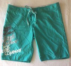 Juniors Size 11 Fox BoardShorts Aqua Blue Silver Surf Swim Shorts Girls Teens  #FoxRacing #BoardShorts