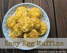 Easy Egg Muffin Recipe (New Video!) - Graceful Little Honey Bee