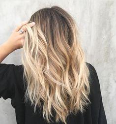 Braune haare blond Braune Haare