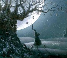 Illustration by Rob Scotton Good Night All, Good Night Moon, Sweet Night, Cute Images, Children's Book Illustration, Stargazing, Gnomes, Fantasy Art, Pokemon