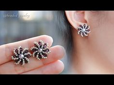 Diy Earrings Studs, Diy Jewelry Necklace, Bead Jewellery, Seed Bead Earrings, Earrings Handmade, Beaded Bracelets, Beaded Earrings Patterns, Earring Tutorial, Inspiration
