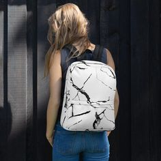 This Women's Marble Backpack is another piece of art in our collection. Made from water-resistant material will protect Everything you carry from the weather while The pockets (including one for your laptop) give plenty of room for all your necessities. Perfect for daily use or sports activities! Marble Backpack, Sports Activities, Are You The One, Fashion Backpack, Art Pieces, Laptop, Weather, Backpacks, Pockets