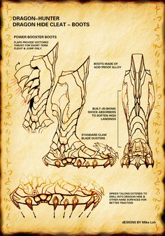 Dragon Cleats Boot claw by Uratz-Studios.deviantart.com on @DeviantArt