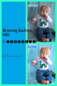 An easy to follow tutorial for removing unwanted shadows from photos using PicMonkey