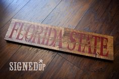 Florida State Seminoles Wood Sign by SignedUp on Etsy