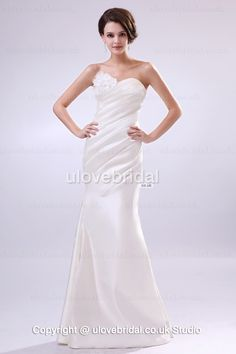 Tempting Mermaid Sweetheart Flowers Satin Fashion Bridal