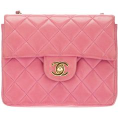 CHANEL VINTAGE quilted shoulder bag by None, via Polyvore