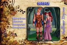 iphone 4/4s case hercules love megara couple by skullflowerstore, $28.00