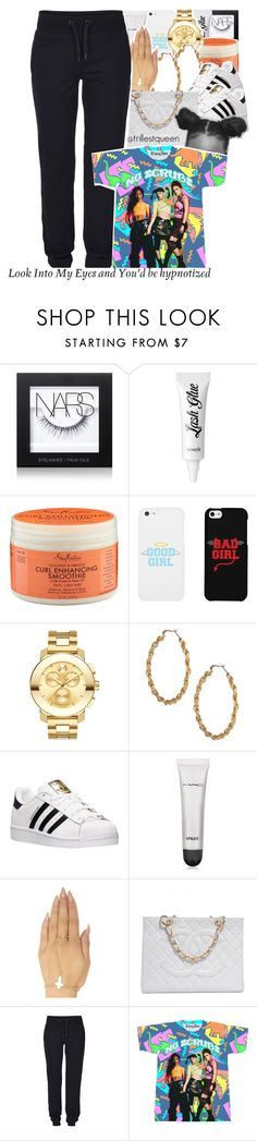 """11-10-2016."" by trillestqueen ❤ liked on Polyvore featuring NARS Cosmetics, Benefit, SheaMoisture, LG, Movado, ASOS, adidas, MAC Cosmetics, Wet Seal and Chanel"