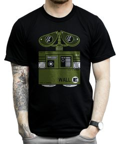 Wall E is a fun lovable robot who gave us all a laugh when we saw this creative cartoon movie. Now you can have some wall e art of your own. Show some Disney love with this awesome pixar related shirt!