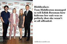 Hiddlesfacts - The man's got a gift.
