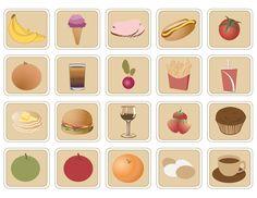 Vector Food Icons Pack [EPS File] - banana, bardak, Cake, çilek, Cup, cups, domates, dondurma, eps, eps file, eps format, fincan, French Fries, hamburger, hot dogs, ice cream cone, Icons Pack, kek, kola, külah, muz, Orange, patates kızartması, portakal, soda, sosisli sandviç, strawberries, tomatoes, Vector Food, yiyecek