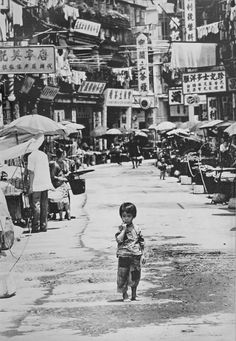 Abandoned girl in Hong Kong, 1960s photo by Dennis Stock