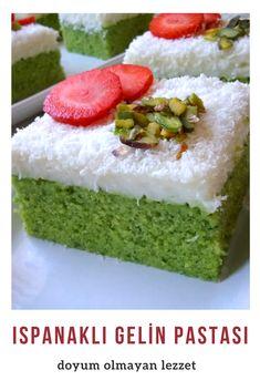 Ispanaklı Gelin Pastası (İpek Gibi Yumuşacık Ve Hafif) Tarifi nasıl yapılır? 8.933 kişinin defterindeki bu tarifin resimli anlatımı ve deneyenlerin fotoğrafları burada. Yazar: Yeliz'in Tatlı Mutfağı
