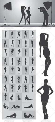 Girl Silhouettes Nice and High Detail Silhouettes. in this items onsists of : Ai ( open with adobe illustrator ) EPS ( open with adobe illustrator or applications that supports eps file ) PNG ( open with adobe photoshop ) SVG ( open with ink Picture Poses, Photo Poses, Picture Ideas, Photography 101, Portrait Photography, Boudoir Photography Poses, Silhouette Photography, Boudoir Poses, Foto Glamour