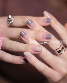 Pin by Reiko on ネイルデザイン in 2019 Nail Polish Art, New Nail Art, Cute Nail Art, Minimalist Nails, French Nails, Acrylic Nails, Gel Nails, Manicure E Pedicure, Super Nails