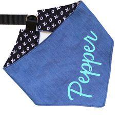 "Personalized Dog Bandana Denim ""Furrever in Blue Jeans"""