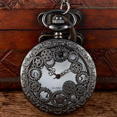 Fanala Men Pocket Watch Retro Style Bronz Copper Quartz Pocket Watch Hollow Out Retro Pendant Chain Necklace Watches Kid Gift Watches