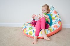 Do you have fabric, a zipper and a sewing machine? Hayley from Grey House Harbor is showing us how to sew a kids bean bag chair in only 30 minutes!