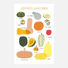 Greenmarket Squash Print 6x9, $15