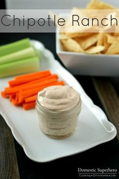 Chipotle Ranch Dip - this is SO good! use this brand ( La Costena) instead of adobo sauce from can that is listed. Appetizer Dips, Appetizer Recipes, Dip Recipes, Cooking Recipes, Sauce Recipes, Yummy Recipes, Recipies, Chipotle Ranch, Chipotle Dip