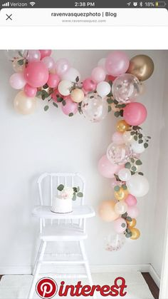 A balloon garland, how ingenious! Any color/decor scheme. A balloon garland, how ingenious! Any color/decor scheme… baby shower ideas fo… A balloon garland, how ingenious! Any color/decor scheme… baby shower ideas for girls Baby Girl 1st Birthday, First Birthday Parties, 1st Birthday Girl Party Ideas, First Birthday Decorations Girl, Baby Birthday Themes, First Birthday Balloons, Birthday Celebration, Tea Party Birthday, Gold Birthday