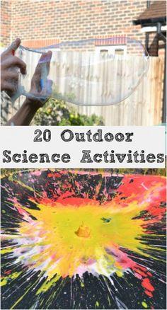 outdoor science for kids Preschool Science, Elementary Science, Science Experiments Kids, Science Fair, Science Education, Teaching Science, Science For Kids, Science Projects, Outdoor Activities For Kids