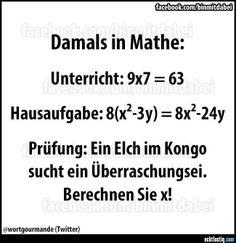 Damals in Mathe