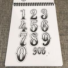 Big Meas - Numbers 2 Go Numeric Guide Source tattoo designs, tattoo, small tattoo, meaningful Number Tattoo Fonts, Tattoo Fonts Alphabet, Tattoo Lettering Styles, Number Tattoos, Chicano Lettering, Graffiti Lettering Fonts, Hand Lettering Alphabet, Number Fonts, Graffiti Quotes