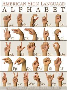 This is an American Sign Language (ASL) Alphabet (ABC) Poster. This is an American Sign Language (ASL) Alphabet (ABC) Poster. Sign Language Phrases, Sign Language Interpreter, Learn Sign Language, Alphabet In Sign Language, Sign Language Colors, Baby Sign Language Chart, Sign Language For Kids, Simple Sign Language, Sms Language