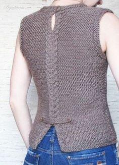 Best Knitting Models for Women - Tricot Diy Crafts Knitting, Diy Crafts Crochet, Crochet Shawl, Knit Crochet, Crochet Buttons, Hand Knitted Sweaters, Knit Vest, Jacket Pattern, Knitting Designs