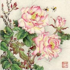 """Summer Garden"" - Original Fine Art for Sale - © Jinghua Gao Dalia"