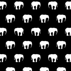 Elephants Black And White custom fabric by ornaart for sale on Spoonflower Elephant Black And White, Black And White Fabric, Wall Fabric, Elephants, Custom Fabric, Spoonflower, Fabrics, Colorful, Printed