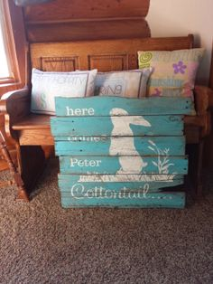 Chatty Walls Custom Vinyl Lettering & Home Decor: Easter Pallet Board