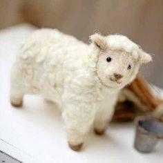 DIY Felted wool SHEEP KIT Japanese craft kit by Hamanaka. $12.00, via Etsy.