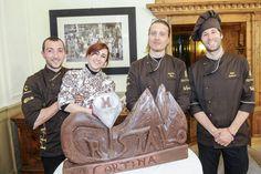 Sculture di Cioccolato  #Chocolate #Events #Mircodellavecchia #Eventiacortina #Winterevents #Accademiadeimaestricioccolatieriitaliani