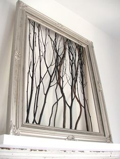 twigs in a frame - Wonder Forest -: inspiration for your walls