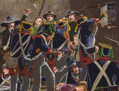 The print depicts the battle for the long barracks. It is printed on a acid free, heavyweight, Mexican Army, Mexican American War, American History, Military Art, Military History, Texas Revolution, Army Uniform, Military Uniforms, Western Comics