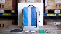 Freitag launched a new backpack called Hazzard. Great simple shape and practical size! All of their bags are made out of super durable and recycled truck tarp and are virtually indestructible