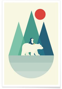 Bear You en Affiche premium par Andy Westface | JUNIQE