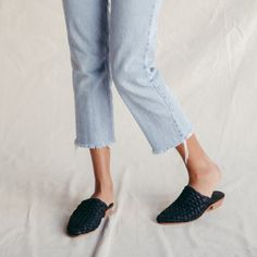 Paris Woven Loafers | Black Leather | St Agni | Shop in store or online at www.saltliving.com.au #saltliving #stagni