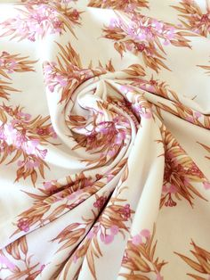 Organic Cotton Baby Blanket, Gum Blossom Knit Jersey Fabric Designed by Thistle and Fox, Rose Copper Golden Pink Blooms Australian Floral Cotton Baby Blankets, Knitted Baby Blankets, Fox Fabric, Picnic In The Park, Draped Fabric, Surface Pattern Design, Peach Colors, Photo Props, Baby Knitting