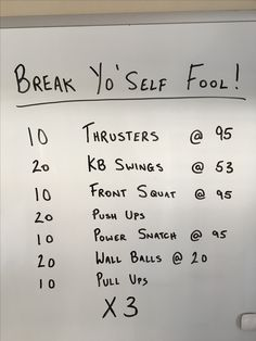 A Friday inspired crossfit workout.