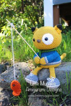 Amigurumi Crochet Pattern  Spencer the Fishing by littlemuggles