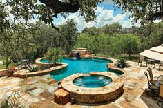 Love the waterfall. I'm sure the boys would be jumping off that. Gallery | Keith Zars Pools