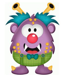 purple monster by stinkin cute paper piecings #88245