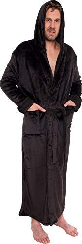 RED HOODED BATHROBE 100/% COTTON ADULT ROBE MENS LADIES DRESSING GOWN TOWEL M-5XL