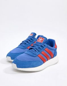 best service 953ee 114c2 adidas Originals I-5923 Leather Trainers In Blue D96605