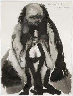 THE HERMIT, Marlene Dumas (b1953 Cape Town, South Africa; in 1976 relocated in Amsterdam)
